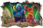 TROLLS SMASHED HOLE IN WALL DECAL