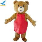 Teddy Bear Adult Size Mascot Costume Fancy Dress Outfit Professional Big Sale