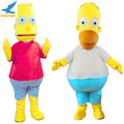 Bart and Homer Simpsons Mascot Costume Cartoon Charactor Cosplay Dress Outfit