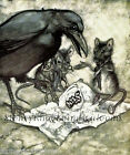 Raven,  Mice ~ Peter Pan,  Arthur Rackham,  Fantasy,  Magic ~ Cross Stitch Pattern