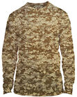 Microfiber Long Sleeve UPF Sun Protection Boating Fishing Shirt - Digital Camo