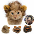 Funny Pet Costume Lion Mane Wig For Cat Small Dog Party Xmas Festival With Ears