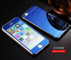 Front Back Mirror Tempered Glass Metal Bumper Frame Case For iPhone 8 Plus 7 6S