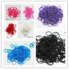 600Pcs Kids DIY Rubber Bands 24 Clips 1 Hook Colorful Loom Refill Candy Color RL