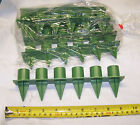 "Handy Candle Holders Florist Arrangement Green Plastic Stick-in 1"" Taper USA"