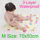 70x50cm Baby Breathable Urine Pad Pure Cotton Surface Layer Changing Change Mat