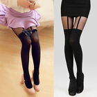 Sexy Women's Bow Suspenders Stockings Temptation Sheer Tights Pantyhose One Size