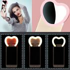 Rechargeable Selfie Ring Flash LED Fill Wide-angle Mirror Light For iPhone 7 6 5