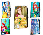 Disney inspired Ariel Belle Cinderella leather phone case for iphone Samsung HTC