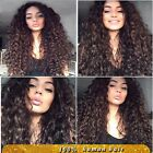 Soft Wigs 100% Brazilian Human Hair curly  Lace Front Full ace Wigs Baby Hair