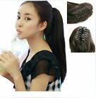 "20"" 115G Ponytail Extensions W/Claw 100% Indian Human Hair New Fashion"