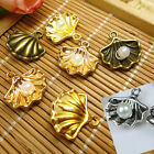 60pcs Fashion Pearl Shell Pendants Charms Jewelry Finding DIY Fit Necklace