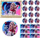 Harley Quinn Edible Cake Topper Image Cake Decoration Party Topper Cupcakes