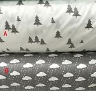 One PCS Cotton Fabric Pre-Cut Quilt cloth Fabric for Sewing Pine trees or Clouds