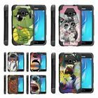For Samsung Galaxy J Series Phone Case Dual Layer Kickstand Cover Cute Animals