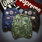 Fashion Men's Air Army Flight Jacket MA1 Embroidered Outwear Bomber Jacket Coat