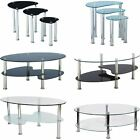 Cara Furniture Range Coffee Table Nest Of 3 Tables Glass Top Stainless Steel