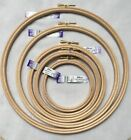 """Elbesee Embroidery Cross Stitch Tapestry Wooden Hoops Sizes 4"""" to 10"""" Made in UK"""