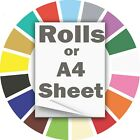 A4 Matte Vinyl Sheet Sign Making HD Graded 10 Yrs Sheets In / Outdoor 17 Colours