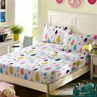 Rainbow Dots 100%Cotton Single Queen King Size Fitted Sheet Set Pillowcases New
