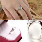 Solid silver Plated moonstone ring fashion and cute women's ring Brand New