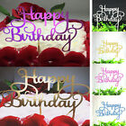 New Happy Birthday Candle Party Cake Topper Supplies Decor Gold/Silver/Blue/Pink