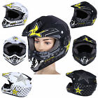 Unisex Safe Full Face Motocross Dirt Off-Road Motorcycle Helmet Mask f Men Women