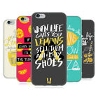 HEAD CASE DESIGNS LIFE AND LEMONS SOFT GEL CASE FOR APPLE iPHONE 6 6S