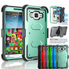 For Samsung Galaxy Sky J3 V Clip Holster Case Cover W/Built-in Screen Protector