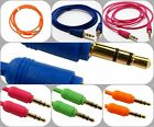 1.2m 3.5mm Jack Plug to Jack Plug Male Stereo Aux Audio Auxiliary Gold PC Cable