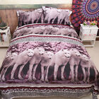 Wolf Duvet Covers Quilt/Doona Cover Set Double/QUEEN/King Size Pillow Cases New
