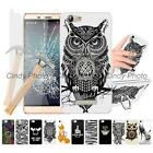 "For CUBOT Note S Dinosaur 5.5"" Finger Ring Kickstand 2X Glass Film Case Cover"