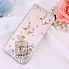Luxury Bling Clear Crystal Rhinestone Hard Back Case Cover For iPhone&Samsung
