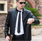 Famous Fashion Mens Autumn Winter Jackets Casual Leather Coat Thick Blazer Suits
