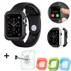 Shockproof Bumper Rugged Apple Watch Protector Case + Tempered Glass For iWatch