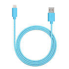 MFi Certified 1M Woven Lightning 8pin USB Data Sync Charging Cable for i Phone
