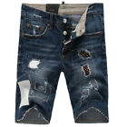 NEW Mens Italy Style Fashion Distressed Patched SHORT JEANS D#303T# Size 28-36