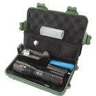 8000LM Zoom XML T6 LED Tactical Flashlight Torch +18650 Battery +Charger +Case Q