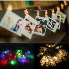 20LED Card Photo Clip Fairy String Light Battery Home Garden Party Wedding Light