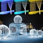 5 pcs 3*3M / 6M 300 600 LED Fairy Curtains String Light Connectable Xmas Party