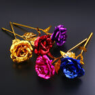 Valentine's Day 24K Gold Plated Golden Rose Flower Holidays Present With Box