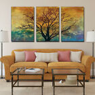 3pcs Print Abstract Tree Autumn Home Furnishing Dec Oil Painting On Art Canvas