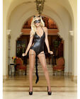 HALTER ZIP FRONT ROMPER & ATTACHED TAIL CAT EARS & MASK OUTFIT 4 PIECE CATSUIT