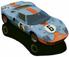 Ford GT 40 Gulf Team #1075 canvas art print