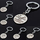 The Love is Forever Keyring Round Pendant Keychain Charm Family Member Xmas Gift