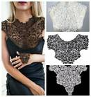 Embroidered Venise Neckline Floral Lace High Neck Collar Trim Sewing Applique