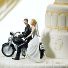 Motorcycle Couple Porcelain Wedding Cake Topper Choice of...