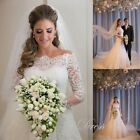 Off The Shoulder Long Sleeve Lace Wedding Dress Garden Mermaid Bridal Gown HD104