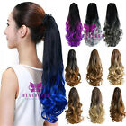 Women 50cm Claw/Clip on Ombre Wavy Curly Ponytail Pony Wig Hair Extensions Hair