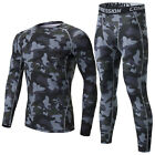 Kids Camouflage Compression Base Layer Tights Fitness Long Pants Children's Gym